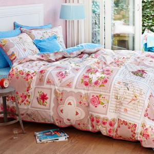 Pościel inspirowana patchworkiem ociepli wnętrze każdej sypialni. Fot. Pip Studio.