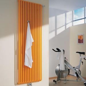 Decor-V firmy Kermi  ma łagodną, organiczną formę. Dodatkowe akcesoria, takie jak wieszaki zmienią go w praktyczny element wyposażenia łazienki. Fot. Kermi.