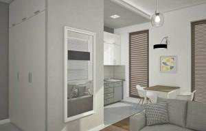 Mieszkanie zostało zaprojektowane przy wykorzystaniu większości mebli IKEA.