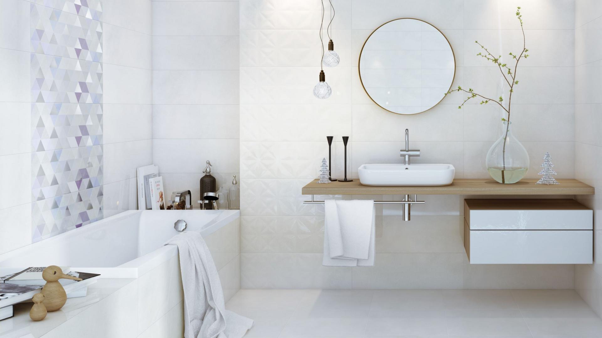 Marka Opoczno Proponuje Białe Płytki Do łazienki 15