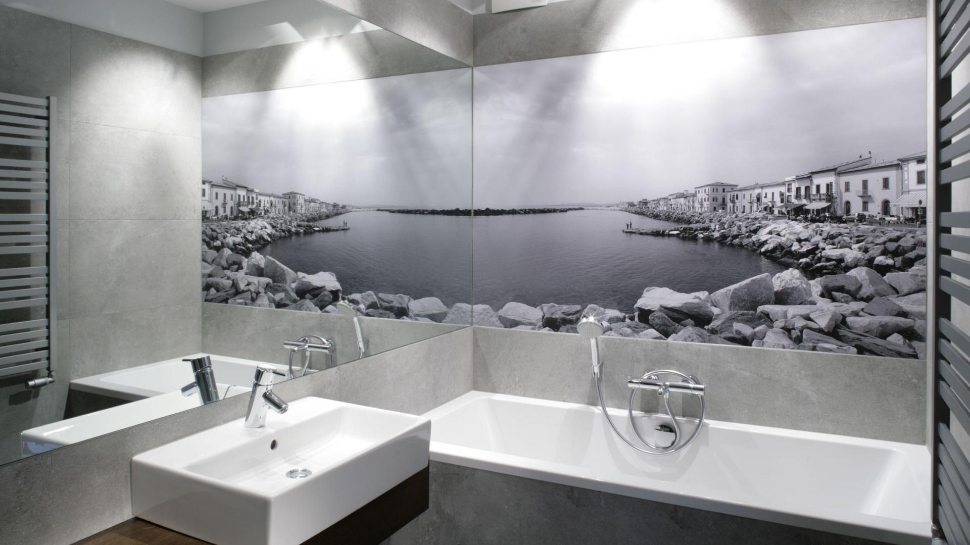 łazienka Z Fototapetą Piękne Widoki Z Polskich Domów