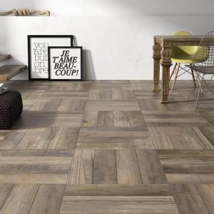 Płytki podłogowe z kolekcji Lido marki Niro Granite, które imitują tradycyjny wzór mozaiki podłogowej w skali makro. Fot. Niro Granite.