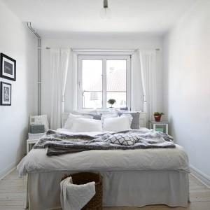 Sypialnia ma okno od wschodniej strony budynku. Dzięki temu o poranku domowników budzą promienie wschodzącego słońca. Fot. Stadshem.