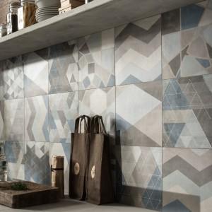 Tradycyjna włoska terakota zainspirowana współczesnymi materiałami wykończeniowymi, jak cement. Efektem połączenia odmiennych stylów są nietuzinkowe płytki, o geometrycznym dekorze. Utrzymane w kolorach betonu i ziemi, wpasują się idealnie zarówno w nowoczesne kuchnie industrialne, jak i bardziej tradycyjne wnętrza. Fot. Ceramiche Caesar, kolekcja One.