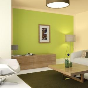 Soczysta zieleń to nie tylko kolor jesieni, ale też reminiscencja minionego lata - idealna do jasnych, nowoczesnych wnętrz. Fot. Dekoral.