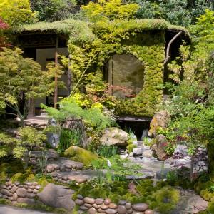 Wiele kolorów roślin, różnorodnych faktur i kształtów, które wspólnie tworzą piękną, ogrodową kompozycję. Proj. Kazuyuki Ishihara. Fot. RHS Chelsea Flower Show.