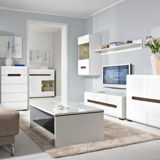 Białe meble do salonu. 12 propozycji z polskich sklepów
