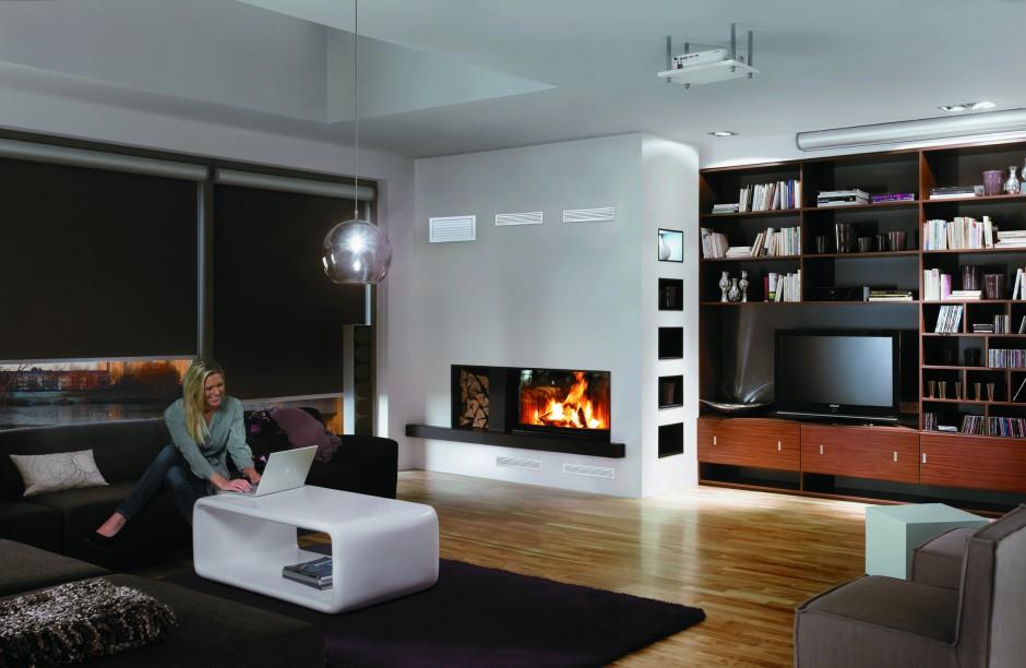 Prosta, minimalistyczna...  Nowoczesny salon z kominkiem  Strona: 5
