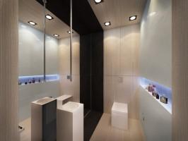 W części parteru znajdują się ponadto dwie łazienki z czego jedna przylega bezpośrednio do pokoju dziecka.