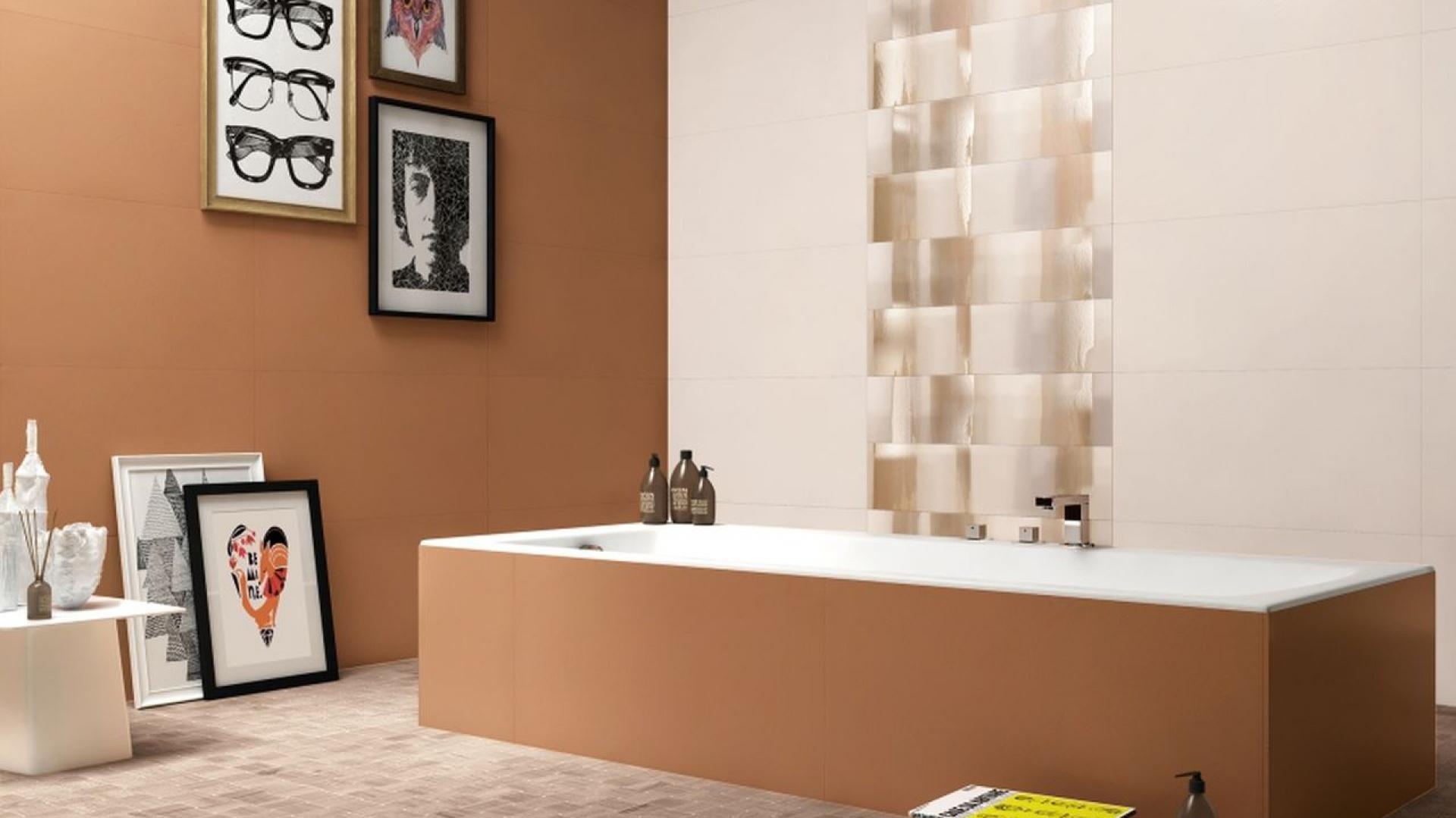 Visual Design marki Supergres to płytki w dwóch kontrastowych  kolorach i oryginalne nowoczesne dekory.  Fot. Supergres.