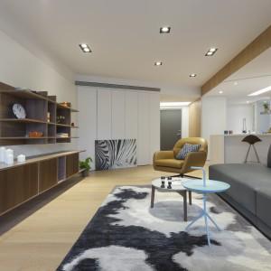 Kuchnia może być zarówno otwarta, jak i zamknięta na salon. Wzdłuż jej granicy zamontowano prowadnicę z przesuwnymi drzwiami. Zamknięte do złudzenia wyglądają jak biała ściana, rozsunięte otwierają kuchnię na pokój dzienny i jadalnię. Fot. KC Design Studio.