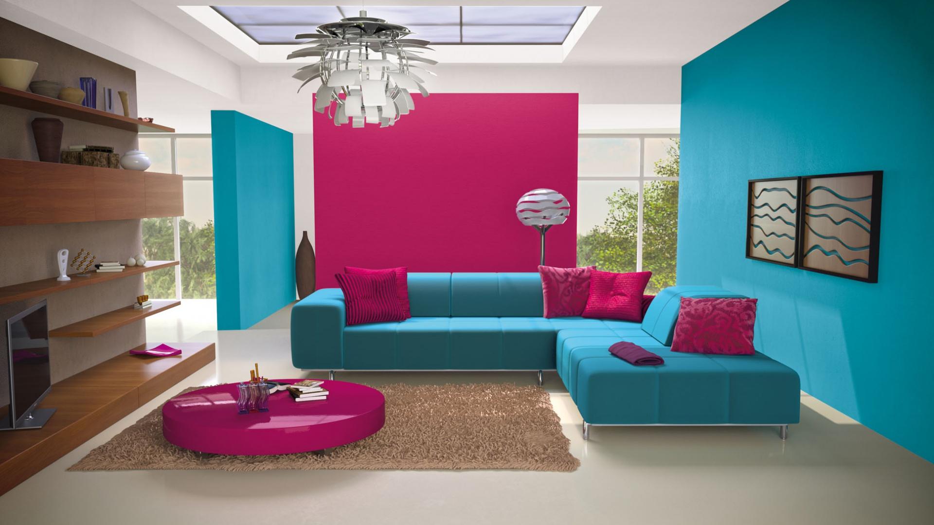 20 Pomysłów Na ściany W Salonie Modne Szarości Błękity I