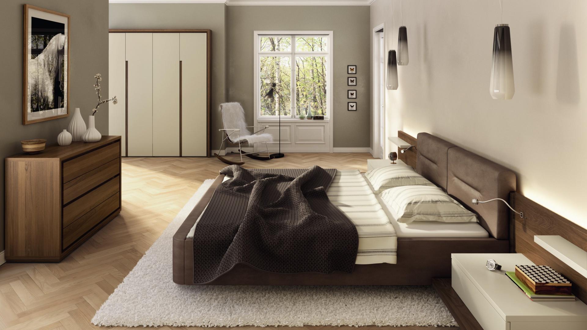 Meble Do Sypialni Ciemne łóżko
