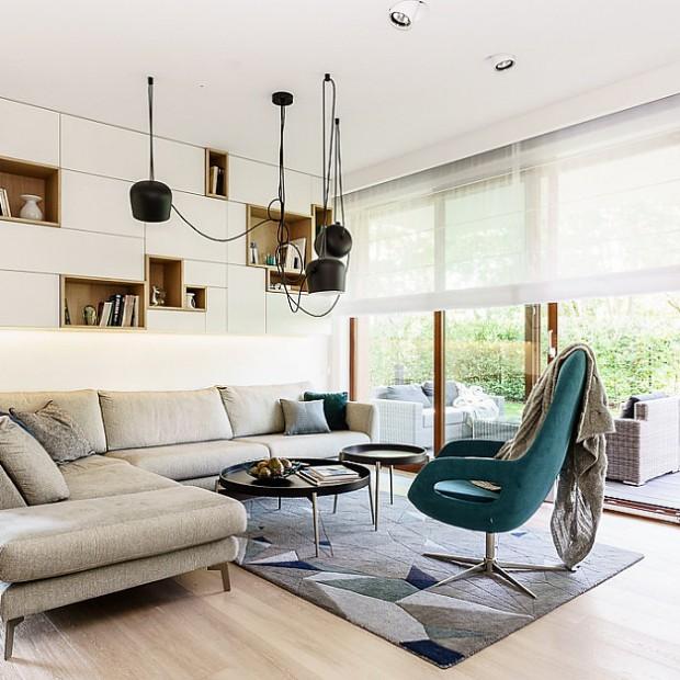 Stylowe i nowoczesne wnętrze. Piękne mieszkanie nad morzem