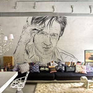 Nieco nonszalancka dekoracja marki Myloview sprawdzi się w loftach, jak i nieco bardziej eleganckich wnętrzach. Fot. Myloview.