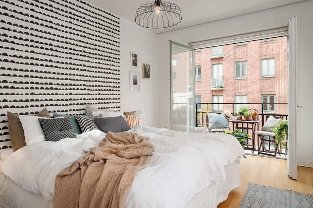 Ściany w sypialni. Wybierz czerń i biel