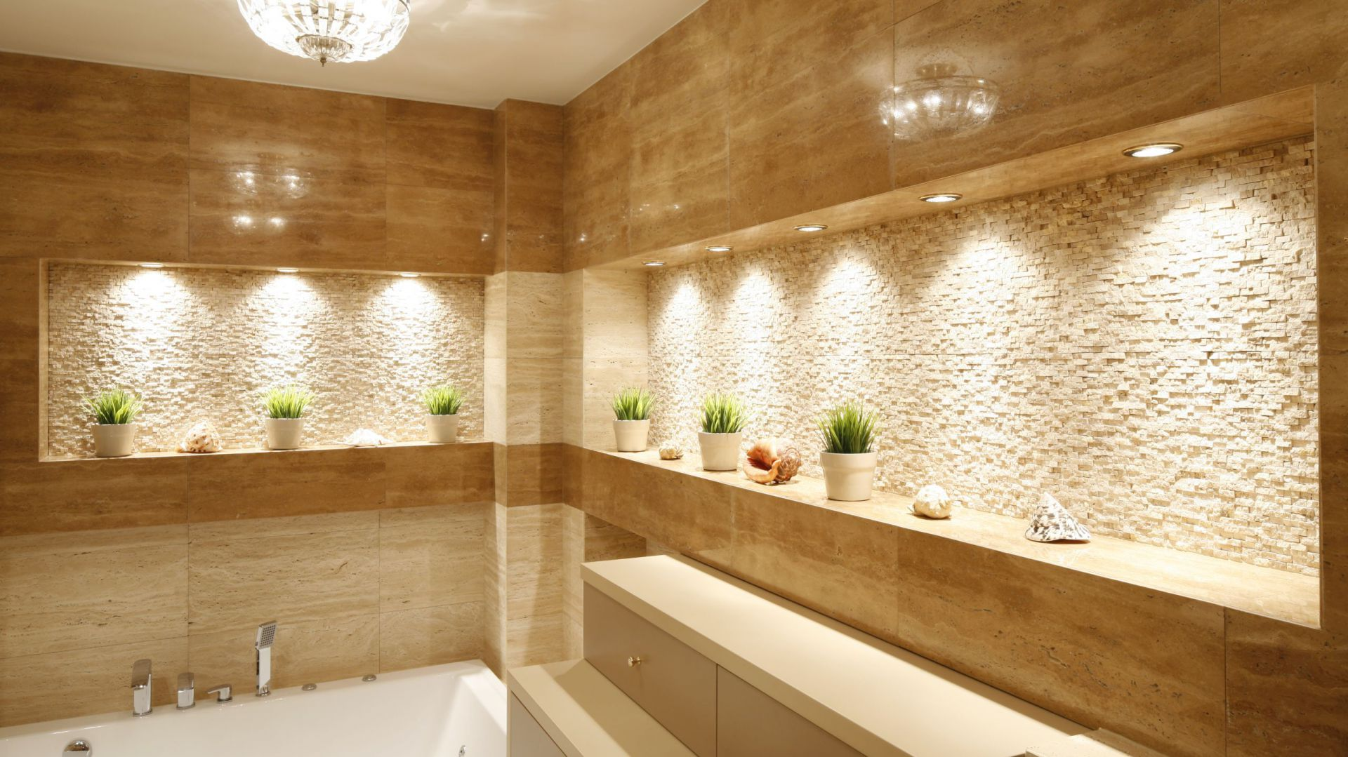 Oświetlenie łazienki Pomysły Architektów