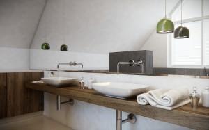 Dominującymi materiałami wykorzystanymi w projekcie są: jasna żywica i kamień w kolorze surowego betonu. Dekoracyjne akcenty stanowi oświetlenie Random firmy Moooi podwieszone nad jadalnianym stołem oraz meble firmy B&B, które swoim prostym, ale efektownym designem wprowadzają do wnętrza ducha nowoczesnego minimalizmu.