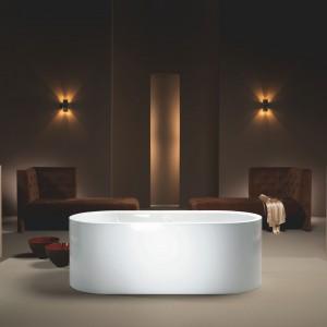 Wanna Centro Duo Oval z kolekcji Meisterstück Kaldewei to model ze stali emaliowanej ze zintegrowaną obudową: elegancka i trwała. Fot. Kaldewei.
