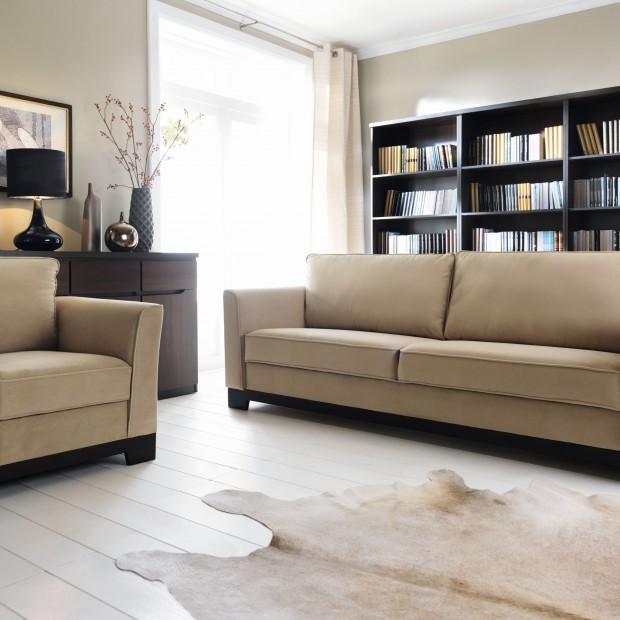 Beże i brązy - wybierz sofę do salonu
