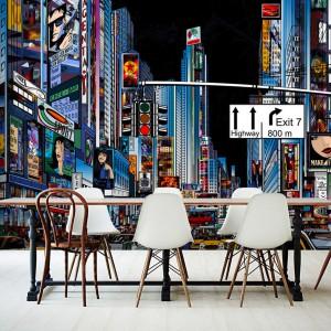 Dla wszystkich tych, którym zdjęcie Nowego Jorku to za mało fototapeta z widokiem na Time Square w wersji popartowskiej. Fot. Picassi.pl.