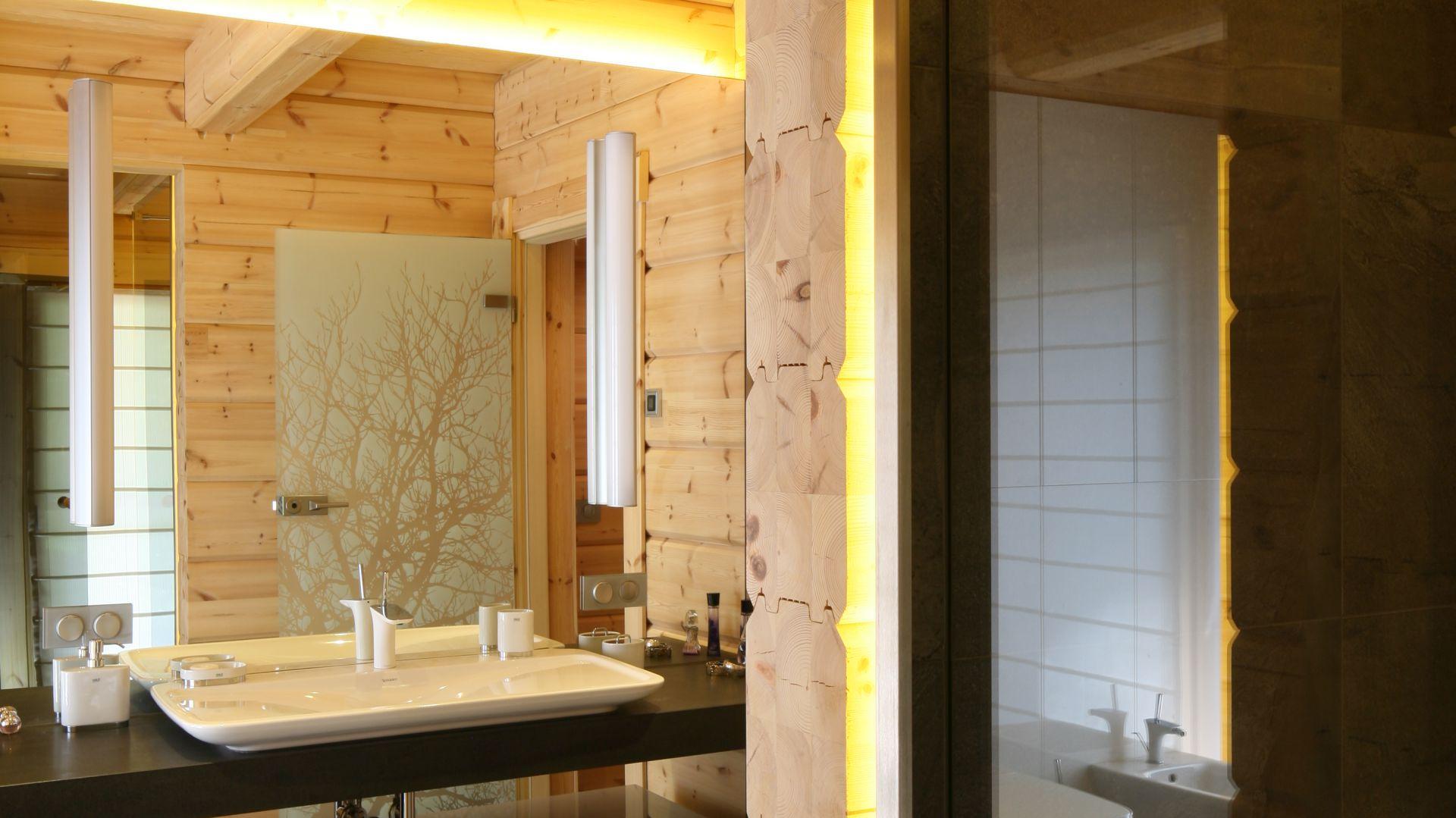 łazienka Ocieplona Drewnem Tak Urządzają Polacy