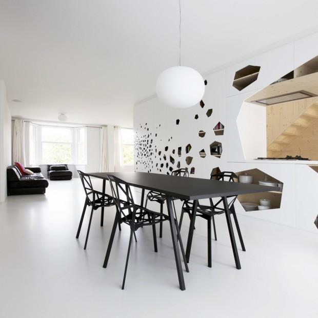 Niesamowite, nowoczesne wnętrze. Rodzinne mieszkanie w Amsterdamie