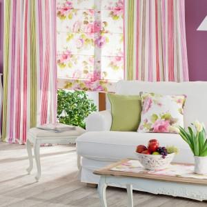 Pastelowe zasłony z kolekcji Charlotte marki Dekoria wniosą zima do wnętrza odrobinę wiosny. Fot. Dekoria.