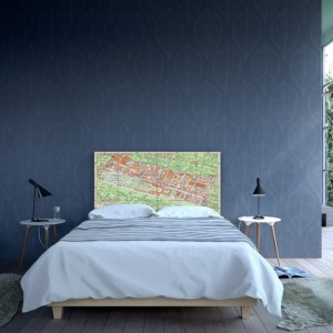 Noyo Home oferuje kilka kolekcji w różnych kolorach i wymiarach. Do współpracy przy tworzeniu zagłówków zapraszani są młodzi artyści, dzięki czemu tematyka jest różnorodna. Fot. Noyo Home.