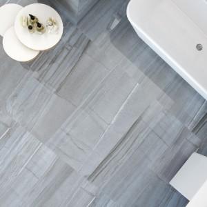 Płytki podłogowe z serii Menhir firmy Peronda odwzorowuje strukturę i kolor wapienia. Fot. Peronda.