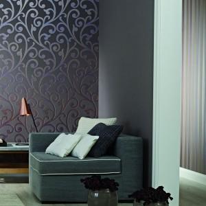 Wyrafinowana tapeta z kolekcji Ornamental Home marki Marburger Tapetenfabrik to dobry sposób by podkreślić luksusowy charakter wnętrza. Fot. Marburger Tapetenfabrik.