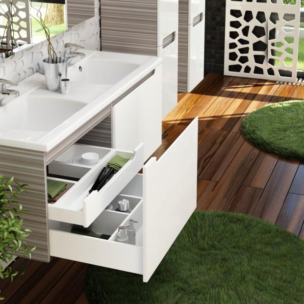 Przechowywanie w łazience – 15 praktycznych  zestawów mebli