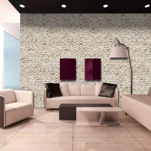 Kamień dekoracyjny Lugano nadaje się szczególnie do jasnych i dużych przestrzeni. Odda na ścianie ciekawy efekt gry świetlnej i trójwymiarowości. Fot. Maxstone.