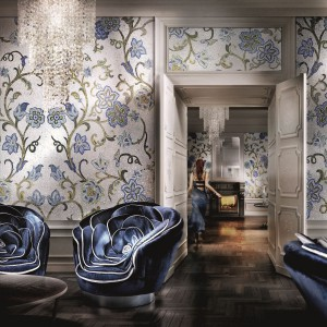 Luksusowa mozaika to pomysł dla wyjątkowo zamożnych inwestorów, doskonałe wykonanie i awangardowe wzory zapewnią z pewnością niepowtarzalny efekt. Fot. Sicis.