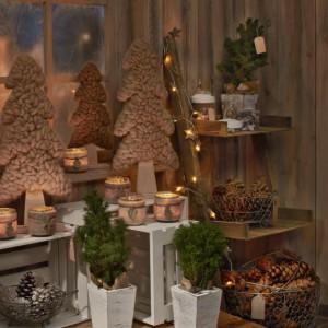 Drewno, szyszki, filc... Proste ozdoby tworzą razem niezwykle przytulną, naturalną dekorację. Fot. Tchibo.