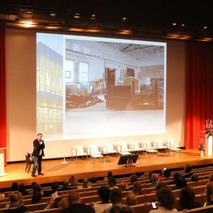 Podczas prezentacji Rafał Ślek zdradził najnowsze możliwości techniczne ulubionego programu architketów i projektantów ArchiCAD.
