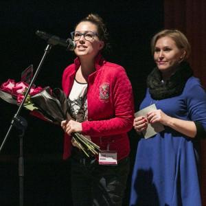 Nagrodę wręczyła projektantka wnętrz Lidia Bąk.