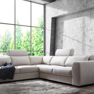 Palazzo to bardzo  elegancki, komfortowy i niezwykle funkcjonalny mebel wypoczynkowych. Doskonale prezentuje się  zarówno w skórze  naturalnej, jak i tkaninach. Fot. Caya Design.