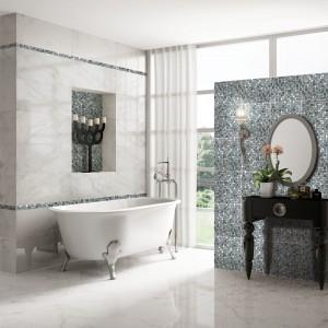 Bellagio Blanco marki Azteca to płytki do złudzenia przypominające biały marmur. For Azteca.
