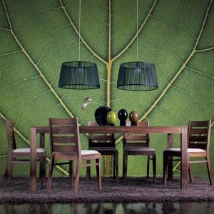Fototapeta z motywem przeskalowanego liścia Evergreen Highway z kolekcji Urban Nature z oferty marki Mr Perswall.