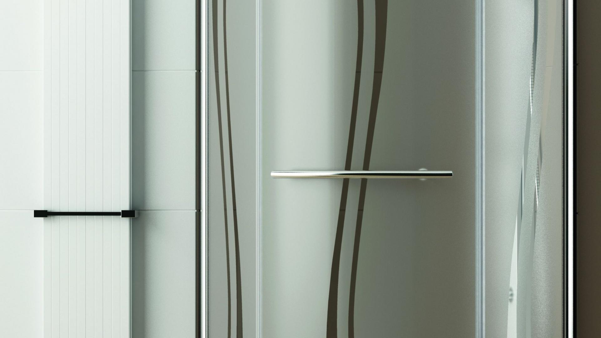 Cena: ok. 1.597 zł. Puenta marki Aquaform  to kabina  z oryginalnym wypełnieniem swing oraz efektownym uchwytem. Fot. Aquaform.