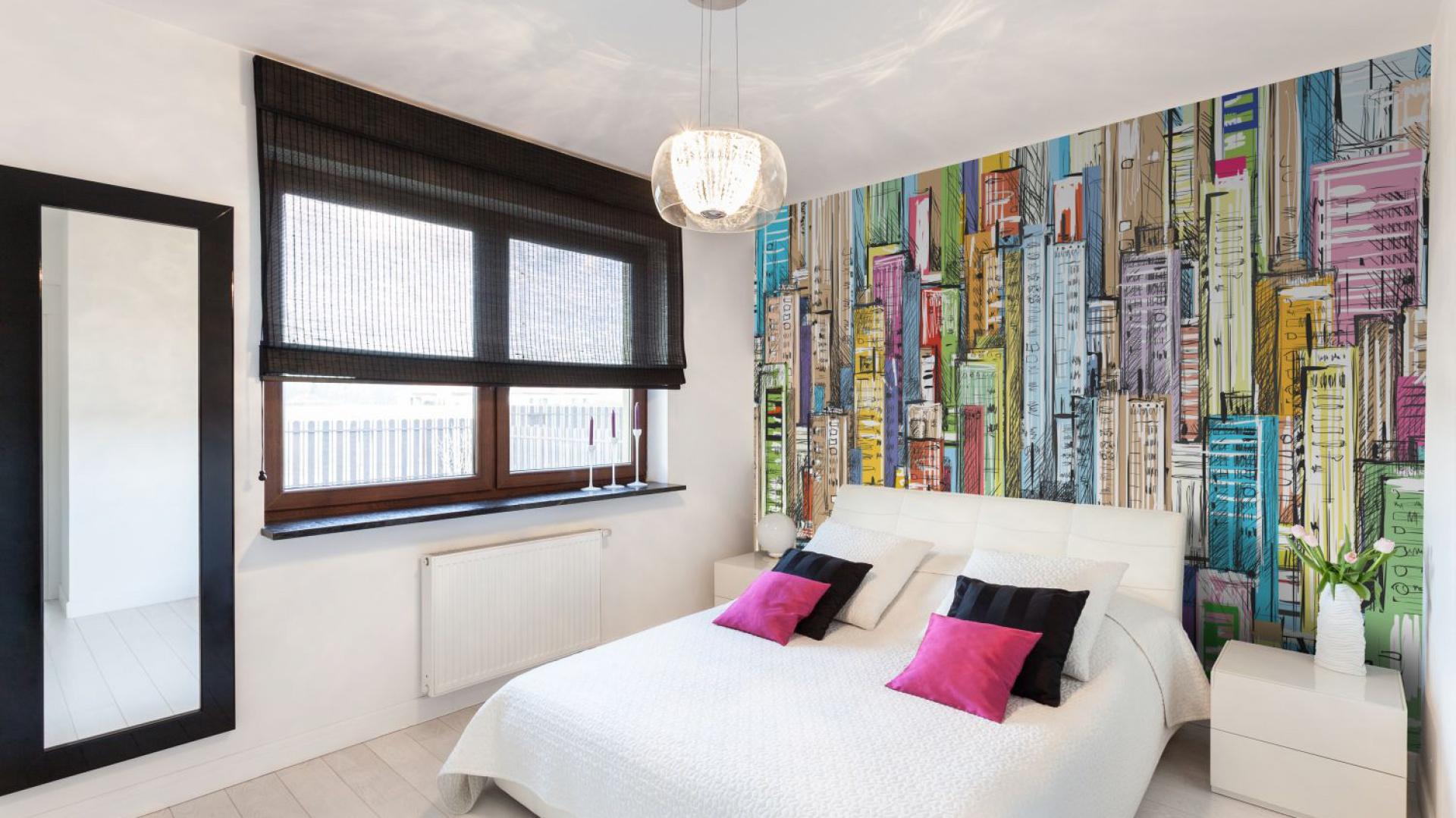 ściany W Sypialni Wykończ Je Ciekawą Tapetą Lub Fototapetą