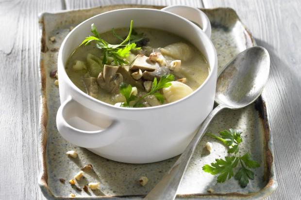 Zupa na winie z borowikami