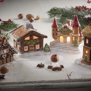 Porcelanowe domki - lampiony z oferty marki Villeroy&Boch.