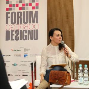 - Mamy obecnie dekadę powrotu polskiego designu – mówiła Krystyna Łuczak Surówka, moderator dyskusji – polski design ma ogromy potencjał, który teraz odkrywamy.