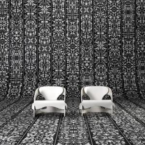 Na tej tapecie każdy motyw jest jedyny w swoim rodzaju. Intensywnie wzorzysta dekoracja przeznaczona jest do minimalistycznych wnętrz, wyposażonych w meble o prostej formie. Fot. 5qm.de tapeten.