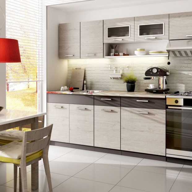 Mała kuchnia: meble na jedną ścianę. Propozycje z polskich sklepów