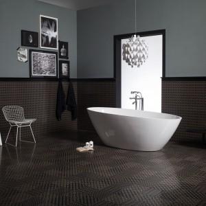 Kolekcja Deco D'Antan marki Atelier Tagina to płytki z geometrycznym wzorem, który daje wizualny efekt trójwymiarowej powierzchni. Fot. Atelier Tagina.
