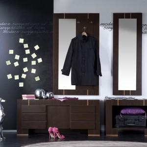 Oryginalne wzornictwo, minimalizm i geometria brył to cechy kolekcji Modern z oferty firmy Vox. W inspirowanych włoskim designem meblach uwagę zwracają charakterystyczne intarsje w kontrastowym kolorze na frontach mebli. Modułowy charakter oraz wielkość brył pozwalają na swobodną zmianę aranżacji. Meble są pojemne i funkcjonalne. Fot. Meble Vox.