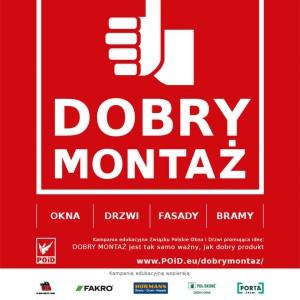 Plakat Kampanii Edukacyjnej DOBRY MONTAŻ.